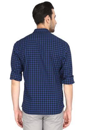 Mens Slim Collar Check Shirt