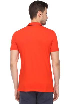 Mens Solid Casual Polo T-Shirt