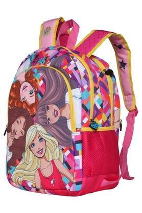 Girls Barbie 3 Compartment Zip Closure Backpack