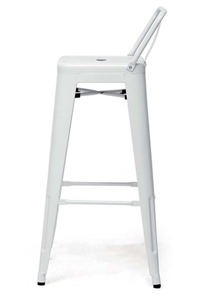 White Diana Bar Chair