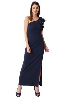 Womens Embellished One Shoulder Dress