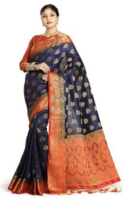 DEMARCA Womens Art Silk Tussar Designer Saree - 204100146_9308