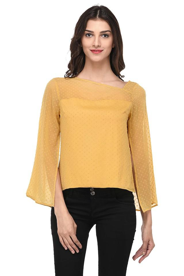 Womens Self Pattern Casual Top