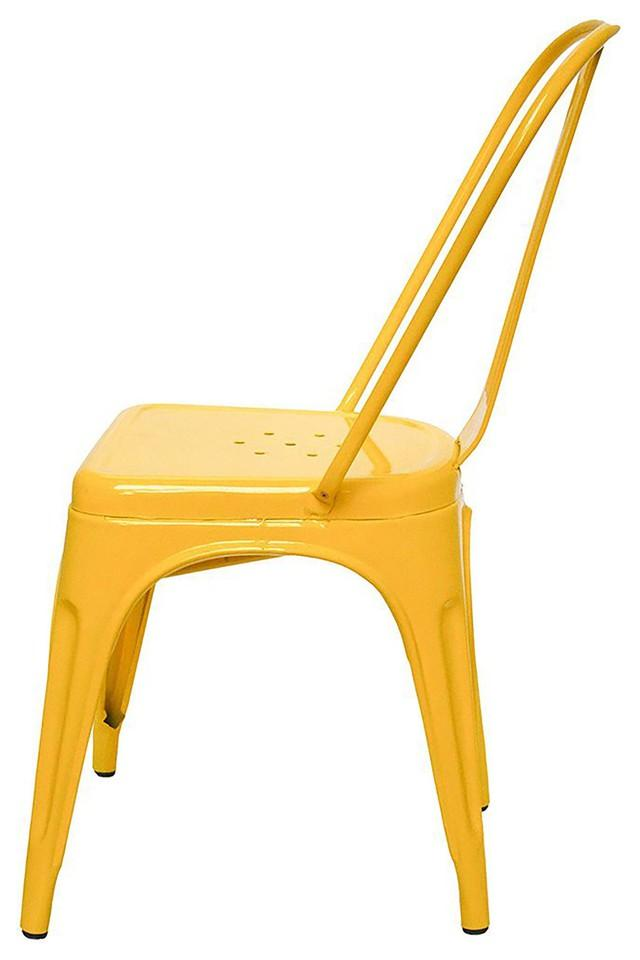 Yellow Stylo Chairs Set of 2