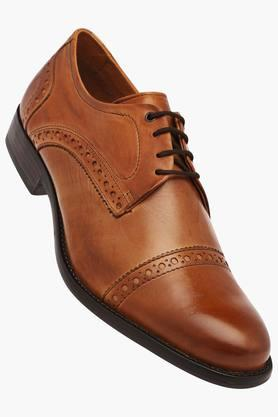 VENTURINI Mens Leather Lace Up Derbys - 203017963_9124