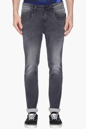 ED HARDYMens Extra Slim Fit Heavy Wash Jeans
