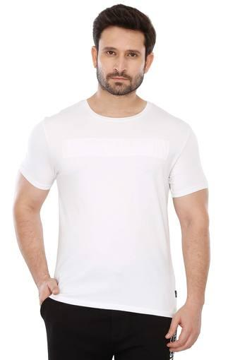 Buy BLACKBERRY S URBAN White Mens Round Neck Solid T-Shirt ... dd85abaaa