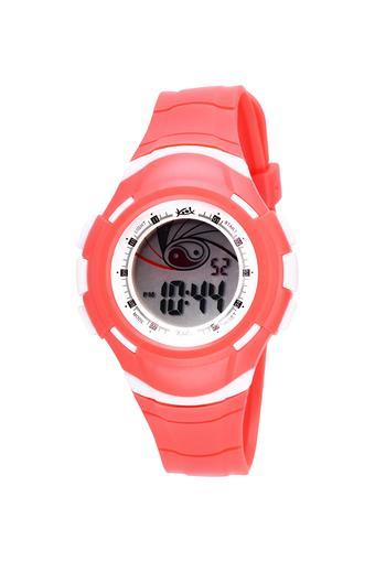 Unisex Plastic Grey Dial Digital Watch - KK209RD