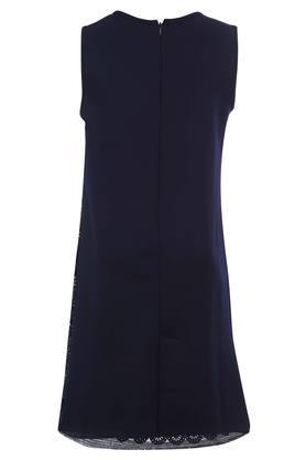 Girls Round Neck Sequined Knee Length Dress