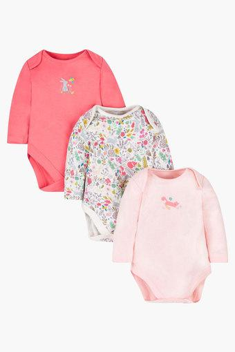 3a6f84b77 Buy MOTHERCARE Girls Envelope Neck Solid and Printed Bodysuit ...