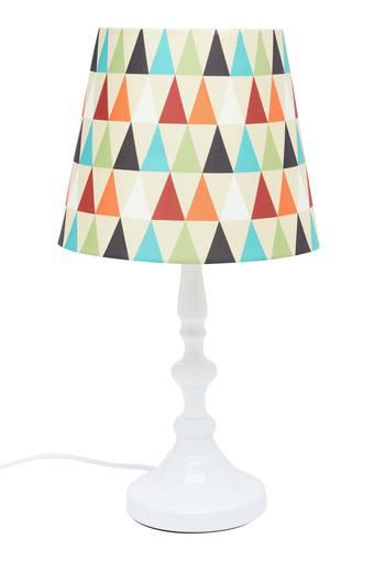 Round Printed Table Lamp