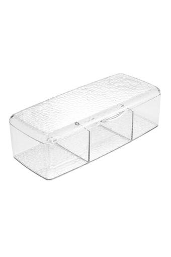 Transparent Cosmetic Organiser with 3 Compartments