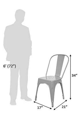 Metallic Stylo Chair