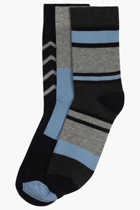 STOP Mens Stripe And Colour Block Socks Pack Of 3