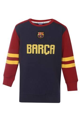 de617480c Buy FC BARCELONA Boys Round Neck Graphic Print Sweatshirt