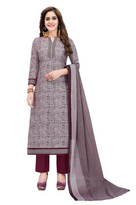 182db8c5d3 X ISHIN Womens Printed Unstitched Salwar Suit Dress Material with Dupatta