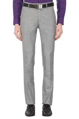 Mens 4 Pocket Slub Formal Trousers