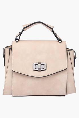 ELLIZA DONATEIN Womens Metallic Lock Closure Tote Handbag