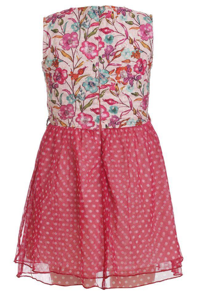 Girls Round Neck Assorted Dress