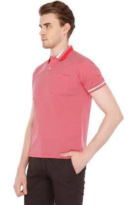 Mens Stripe Polo T-Shirt