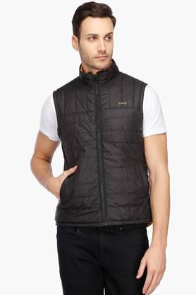 IZODMens Zip Through Neck Solid Reversible Jacket - 202954663_9212