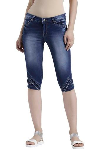 DEVIS -  Dark Blue Capris & Shorts - Main