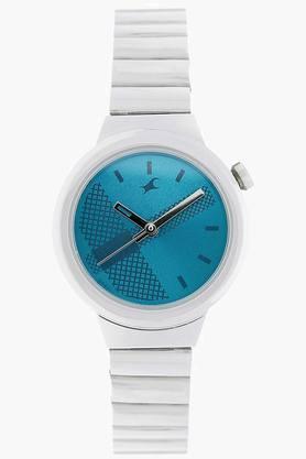 Fastrack Blue Dial Metal Strap Watch - NJ6149SM01 image