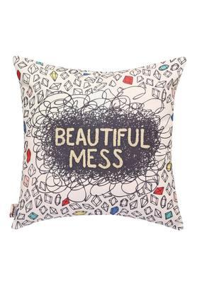 Square Printed Applique Cushion Cover