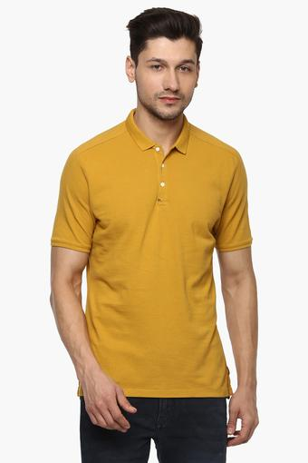 f51fed9b Buy BLACKBERRY'S URBAN Mens Solid Polo T-Shirt   Shoppers Stop
