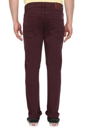 Mens Slim Fit 5 Pocket Coated Jeans