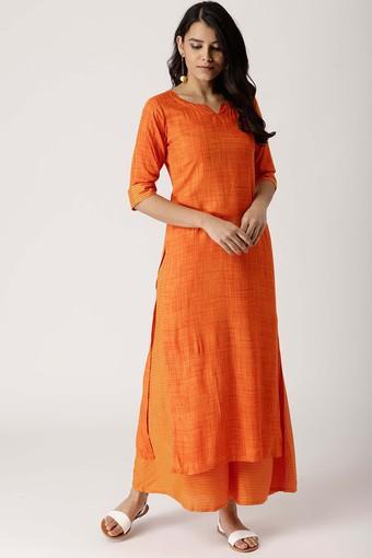 LIBAS -  OrangeSalwar & Churidar Suits - Main