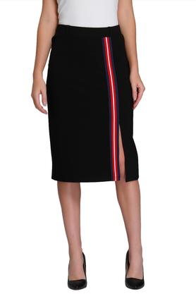 VERO MODA Womens Solid Knee Length Skirt