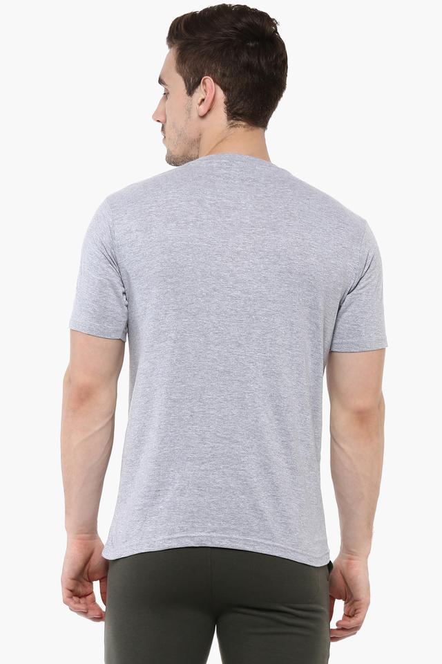 Mens Round Neck Solid T-Shirt