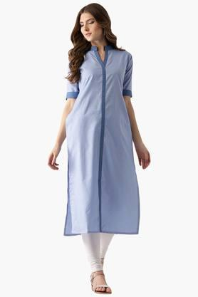 LIBAS Womens Cotton Printed Straight Kurta - 203450399