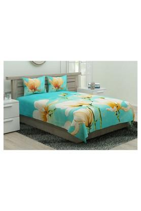 PORTICO Floral Print Double Bedsheet With 2 Pillow Covers - 204631171_9900
