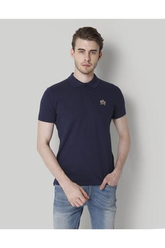 Mens Solid Polo T- Shirt