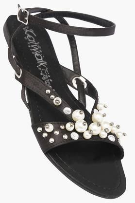 CATWALK Womens Party Wear Buckle Closure Flats