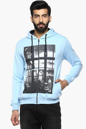 Mens Hooded Printed Sweatshirt