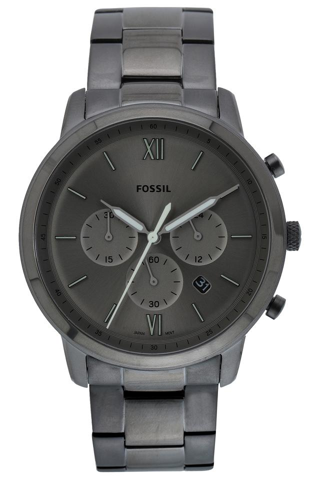 Mens Grey Dial Stainless Steel Chronograph Watch- FS5492I