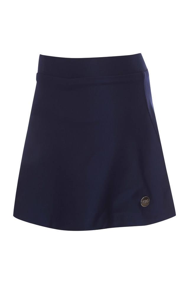Girls Solid Mini Skirt