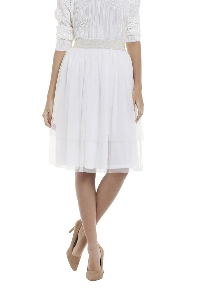 Womens Solid Tulle Skirt