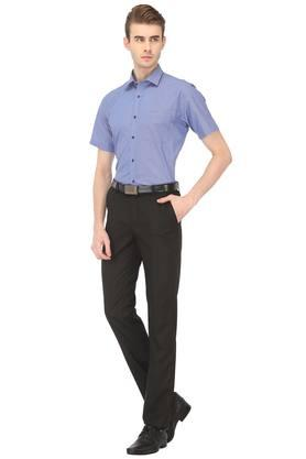 Mens Regular Fit Checked Formal Shirt