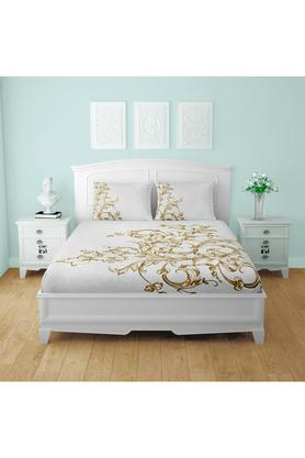 SPACESCotton Printed Double Bedsheet With 2 Pillow Covers - 203257477_9900