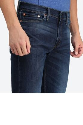 Mens 5 Pocket Straight Fit Mild Wash Jeans