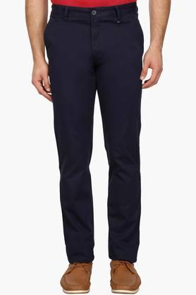 LOUIS PHILIPPE SPORTSMens 4 Pocket Solid Chinos - 203350560