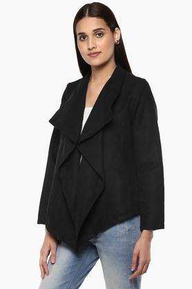 Womens Front Open Solid Shrug