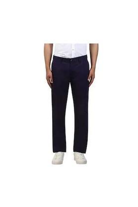 RAYMONDMens 5 Pocket Regular Fit Solid Trousers