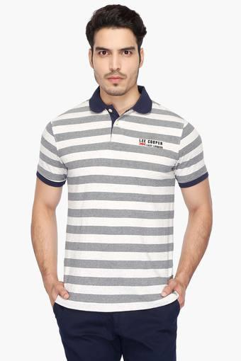 b919926b Buy LEE COOPER Mens Stripe Polo T-Shirt | Shoppers Stop