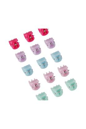 Girls Solid Hair Claw Clips Pack of 15