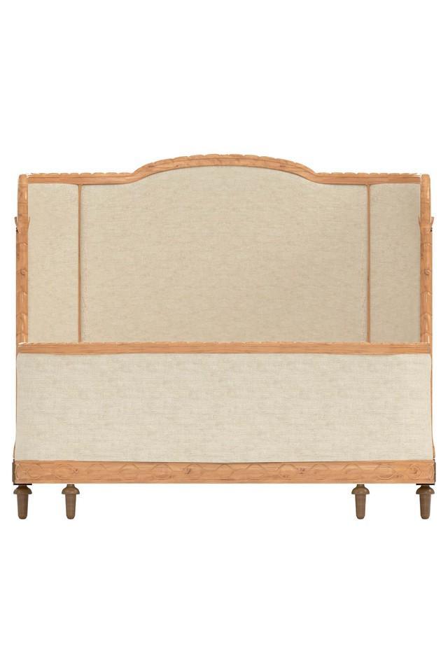 Beige Pine Bed